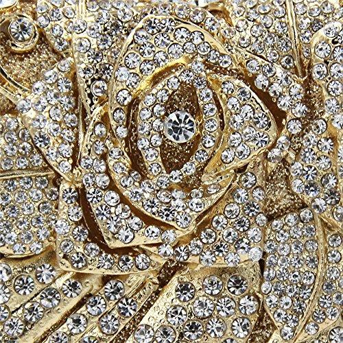 de Soirée pour Femmes Purse Champagne Embrayage Joy Sac Miss Color Gold Sacs Haute Cosmétique Mariage Banquet Pochette Strass Qualité Cristal discothèques q8615wa