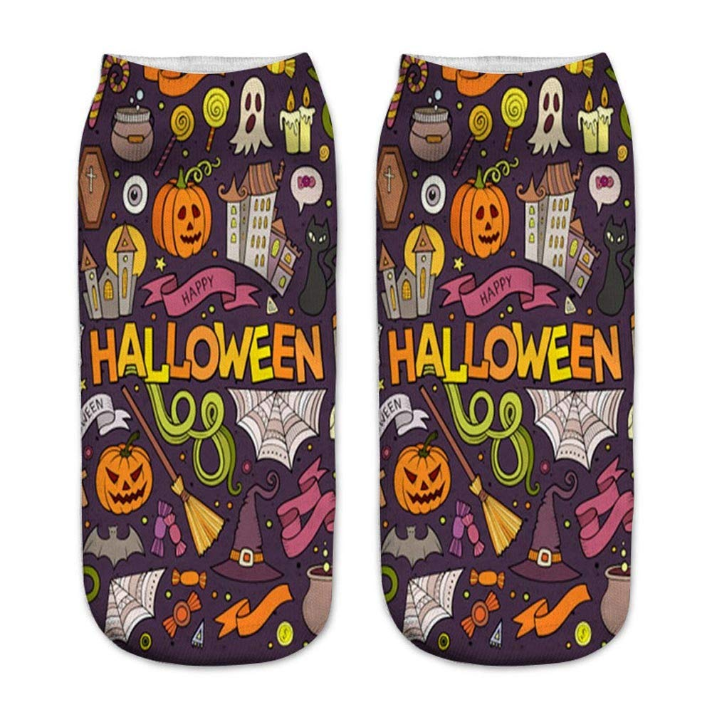 Happy Halloween Christmas - Franterd Unsex 3D Christmas Halloween Socks Casual Work Business Medium Sports Socks