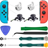 3D Replacement Analog Joystick Thumb Sticks for Nintendo Switch Joy-Con Controller Include Tri-Wing & Cross Screwdriver Repair Tool Kit and 2 Metal Lock Buckles