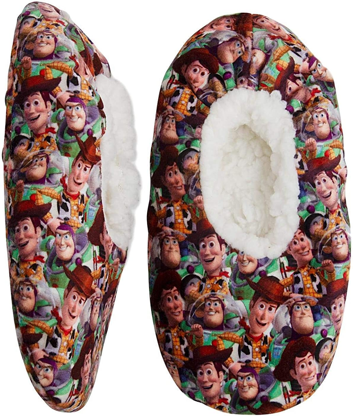 Toddler Boys Toy Story Slipper Sock Fuzzy Babba Kids Buzz and Woody