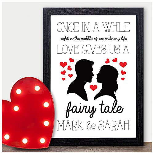 Disney Couples Personalised Valentines Gifts Him Her Present Mr Mrs