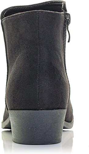 Details about  /Bellmora Payton-10 Women/'s Western Ankle Bootie Low Chunky Blocked Stacked Heel
