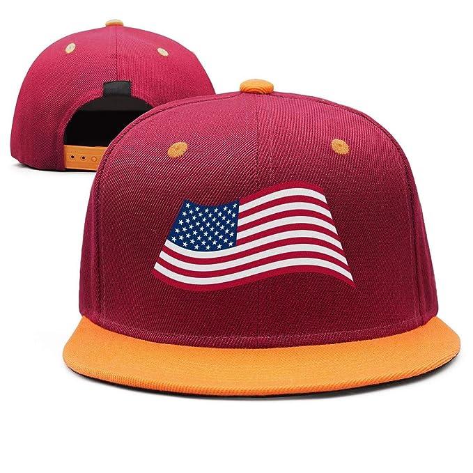4513f94bbe1c9 Amazon.com  Linein American Flag Designer Snapback Hats  Clothing