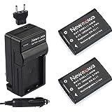 Newmowa EN-EL11 Battery (2-Pack) and Charger kit for Nikon CoolPix s550/Pentax Optio M50/Ricoh Caplio R50/Olympus FE-370 Digital Camera