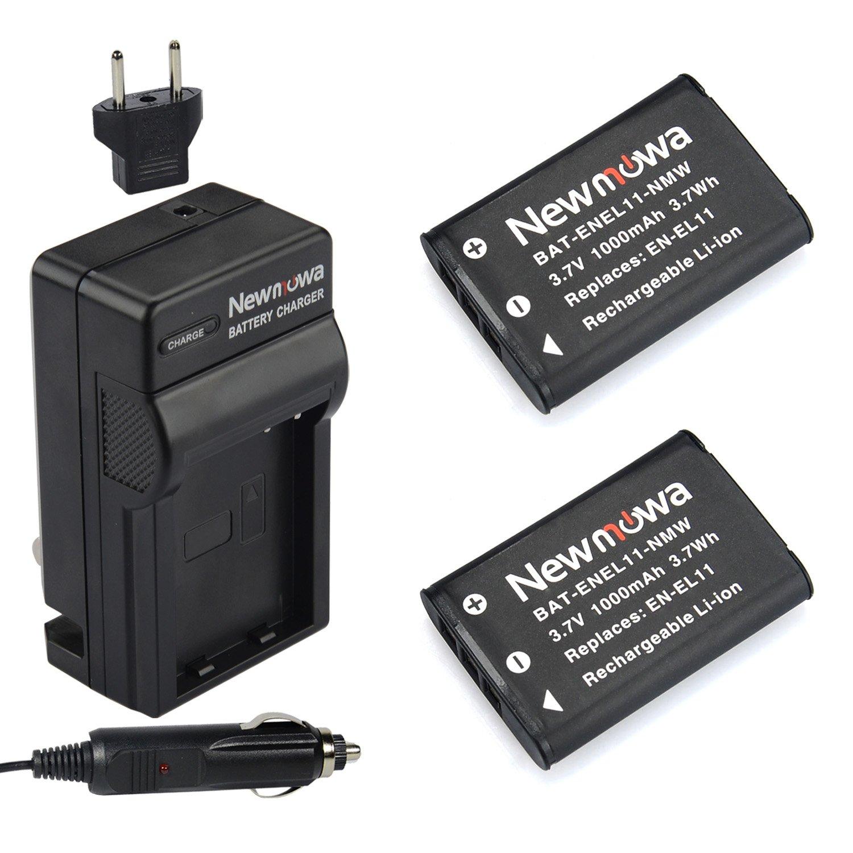 Newmowa EN-EL11 Battery (2-Pack) and Charger kit for Nikon CoolPix s550/Pentax Optio M50/Ricoh Caplio R50/Olympus FE-370 Digital Camera by Newmowa
