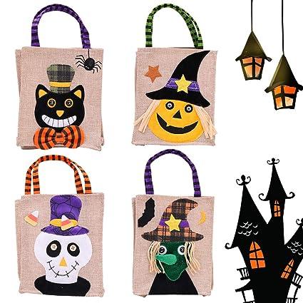 Amazon.com: Bolsa de regalo para Halloween, 4 paquetes de ...
