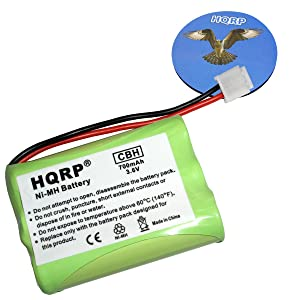 HQRP Cordless Phone Battery compatible with General Electric GE 5-2461/52461, 5-2569/52569, 5-2637/52637, 5-2705/52705, 5-2781/52781 Replacement plus Coaster