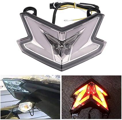 Qazwsx Motorrad Rücklicht Für Kawasaki Led Bremsleuchte Rücklicht Blinker Licht Für Kawasaki Z800 Zx6r Z125 2013 2014 2015 2016 Sport Freizeit