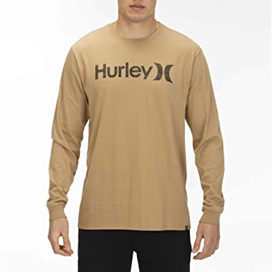 727381c121 Hurley Men's One & Only Push Thru Graphic Long Sleeve Tee Shirt, BEECHTREE/(