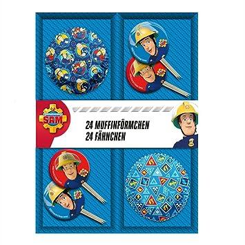 Sam, el bombero 24 Molde Muffins & Banderas Decoración ...