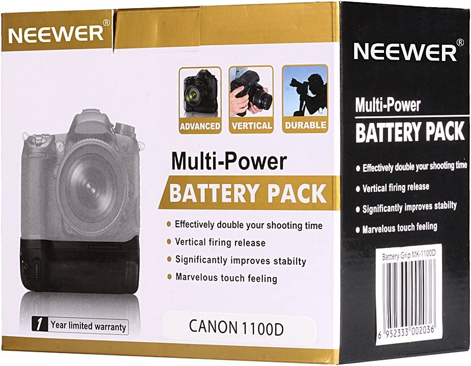 Neewer - Empuñadura Vertical para batería de Repuesto para Canon ...