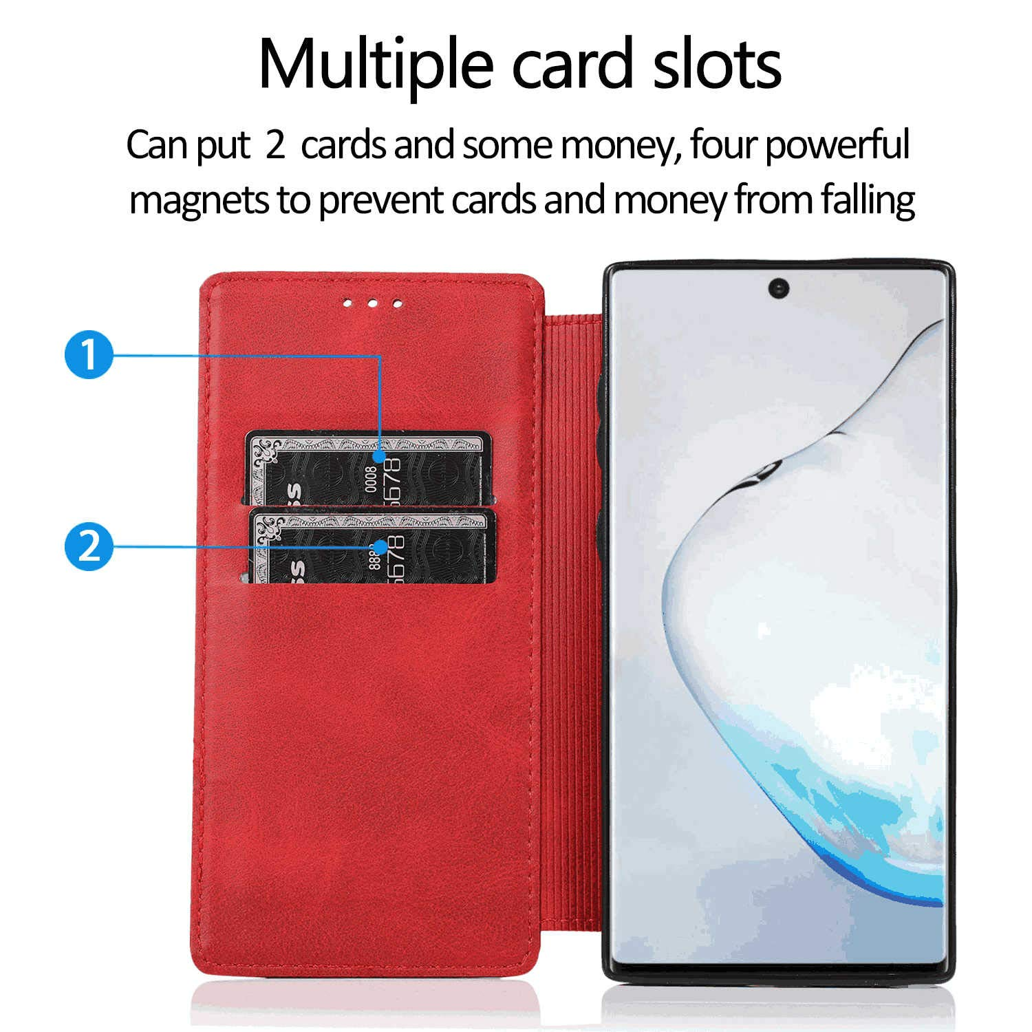 Flip Cover fit for Samsung Galaxy S10 Business Gifts Simple-Style Leather Case for Samsung Galaxy S10