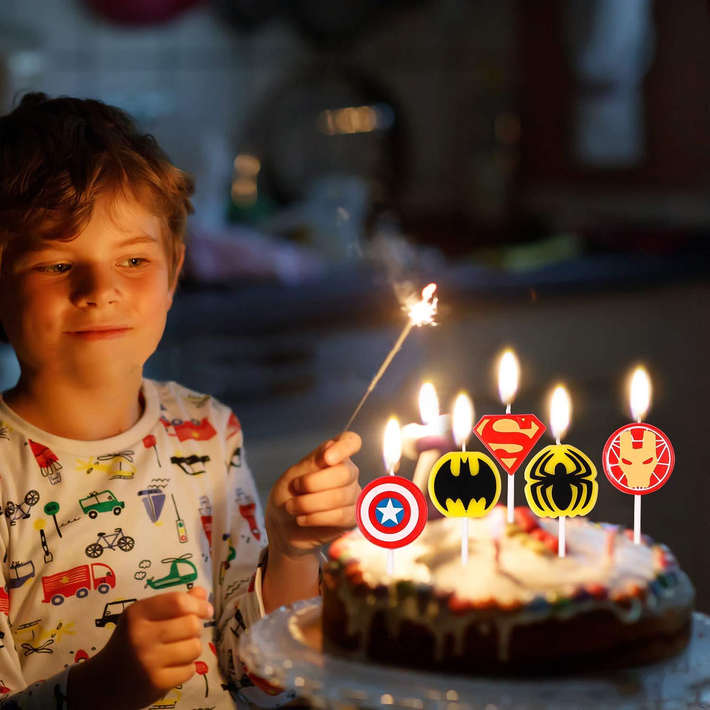 Fabulous Cake Supplies Pantide 10 Pcs Superhero Birthday Candles Cake Funny Birthday Cards Online Necthendildamsfinfo