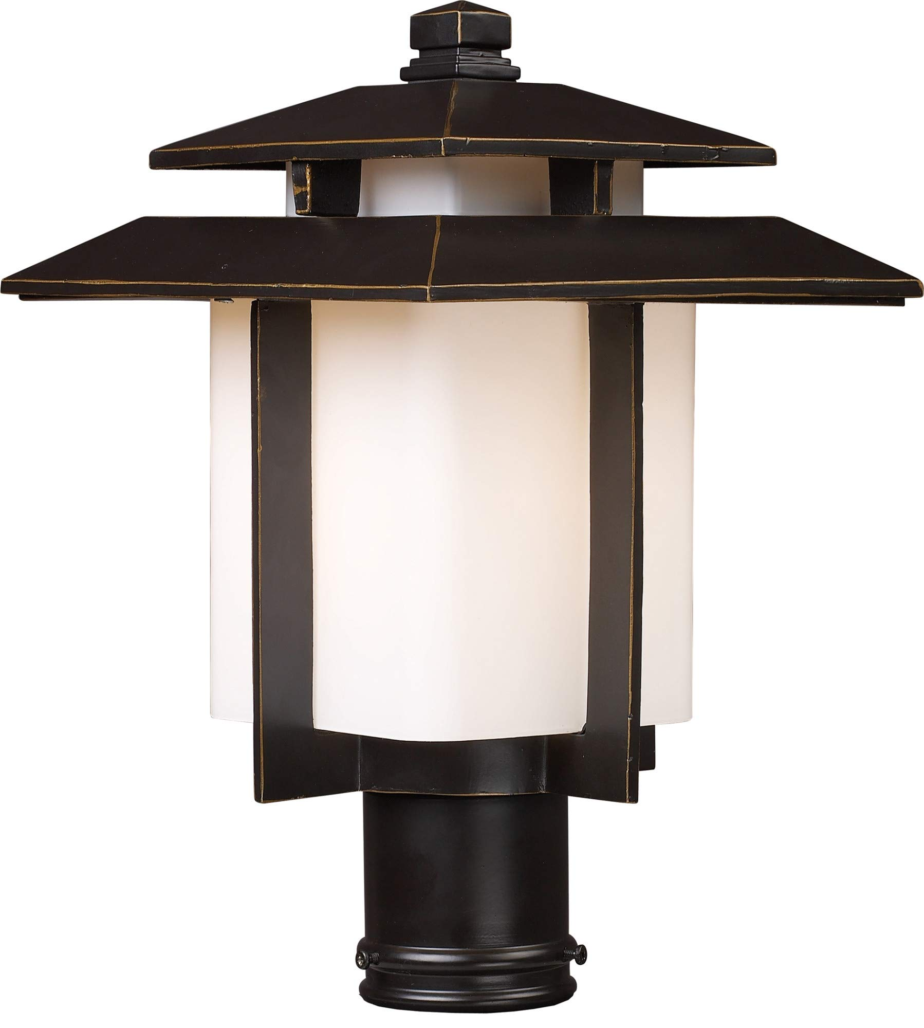 ELK Lighting 42173/1 Kanso 1 Light Outdoor Post Light, Hazelnut Bronze
