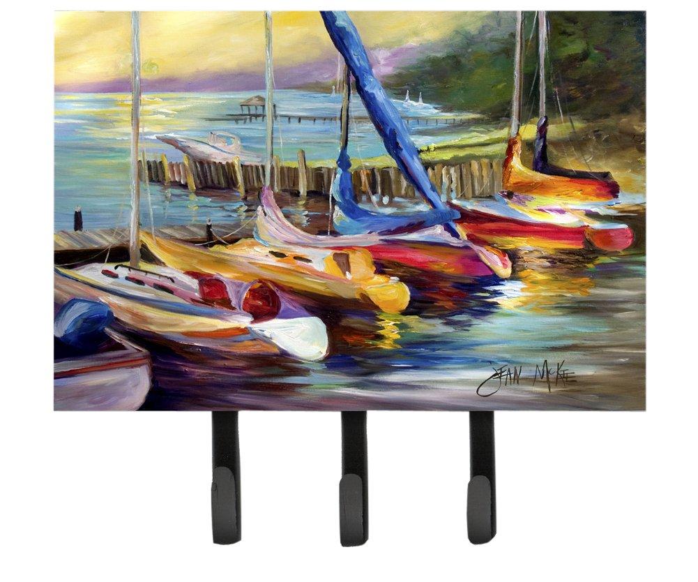 Caroline's Treasures JMK1036TH68 Sailboats at Sunset Leash or Key Holder, Large, Multicolor