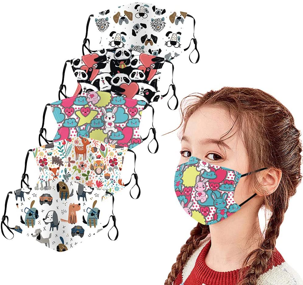 10PCS LULU99 Face Bandanas for Adults Kids Disposable Face Protection 3-Layer Breathable Face M/àsc with Ear Loops Mouth Face Fabric Funny Colored for Children Boys Girls Outdoor Indoor Cooling