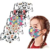 Kids Face Macks - 5 PCS Reusable Cloth Face Bandanas Set, Space Print Cotton, Back to School/Work Supplies