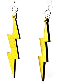 product image for Slender Lightning Bolt Earrings