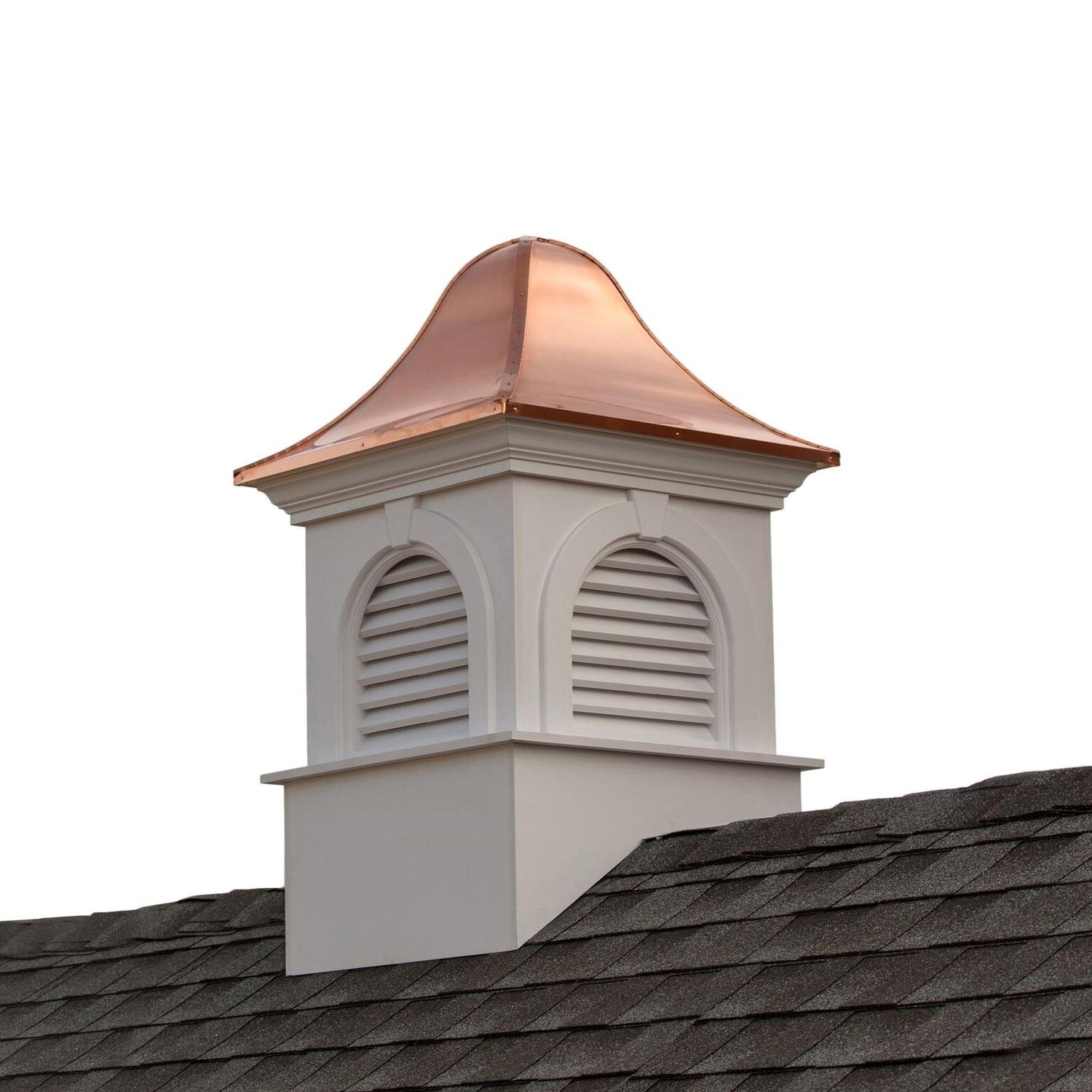 66'' Beautiful Handcrafted Smithsonian Collection Ridgefield Vinyl Cupola with Copper Roof
