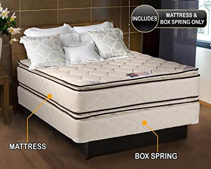 Amazon.com: Coil Comfort Pillowtop Full Size Mattress and Box