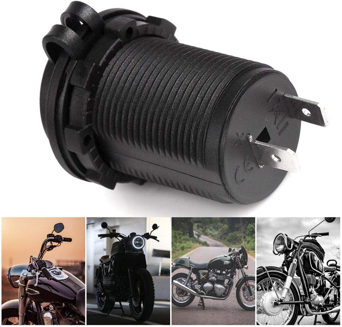 Noradtjcca /Étanche Voiture Moto Moto Allume-Cigare Prise de Courant Prise de Courant Adaptateur Adaptateur fit pour 12-24V