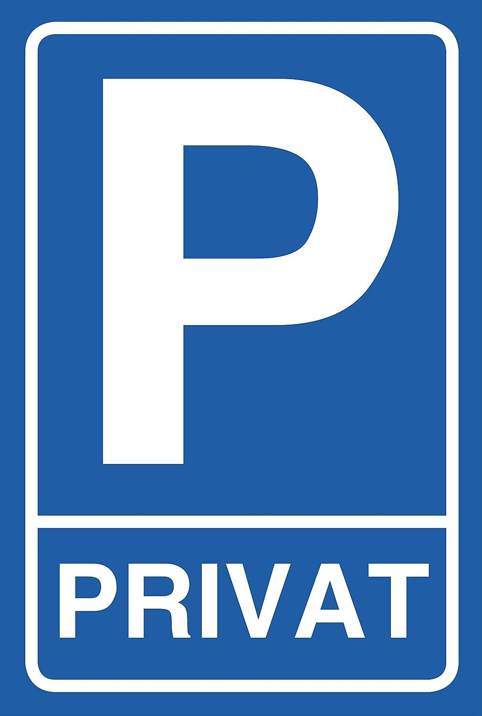 Cartel Aparcamiento Privado estacionas, 30 x 20 cm,