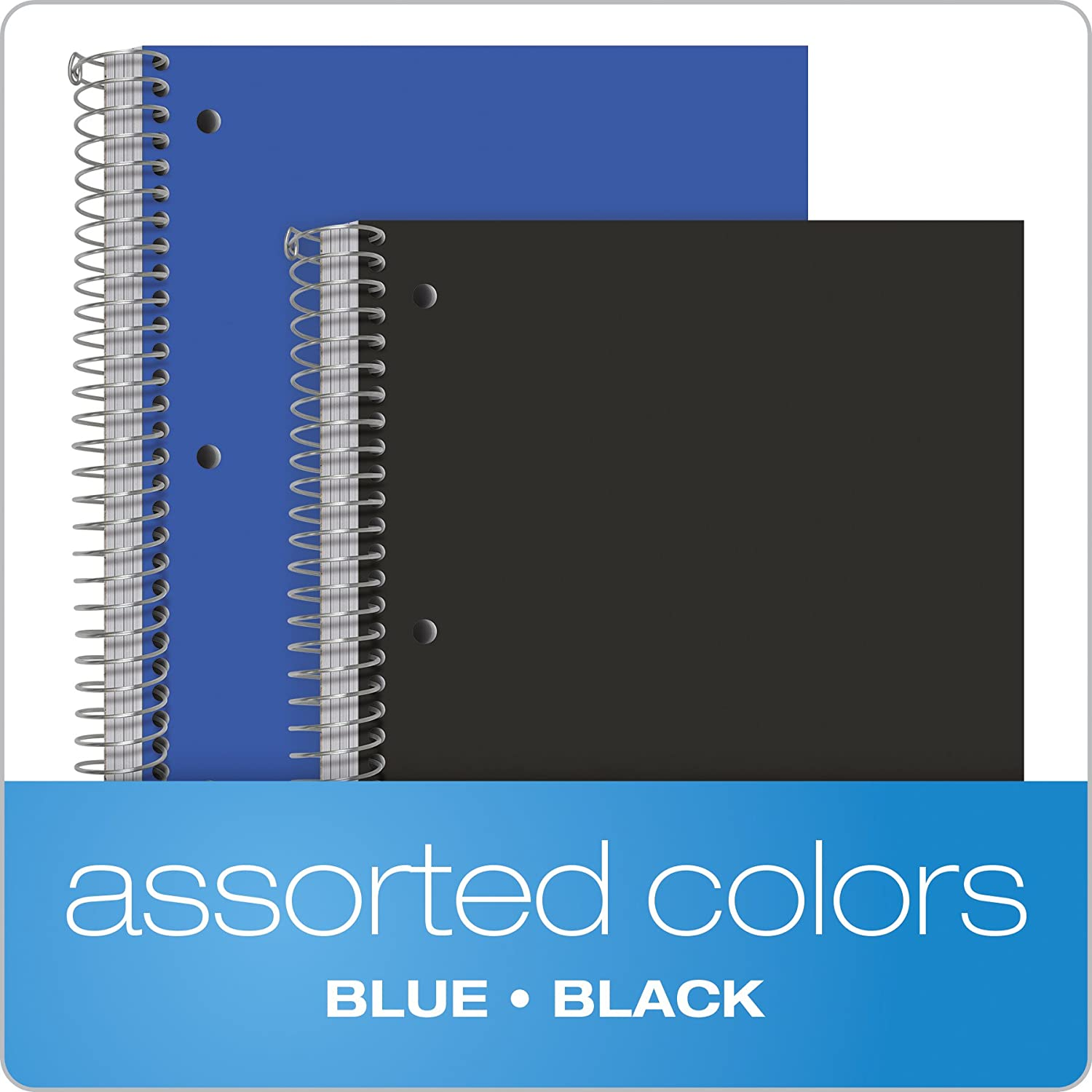 3 Poly Divider Pockets Assorted Color Covers 8-1//2 x 10-1//2 Oxford 3-Subject Poly Notebooks 150 Sheets Wide Rule 2 Pack 10385