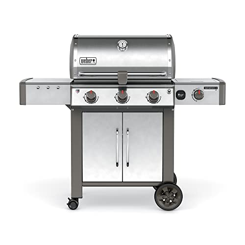 Weber 66004001 Genesis II LX S-340 Natural Gas Grill, Stainless Steel