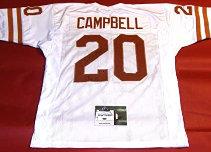 size 40 27387 b0ba2 EARL CAMPBELL AUTOGRAPHED TEXAS LONGHORNS JERSEY AASH ...