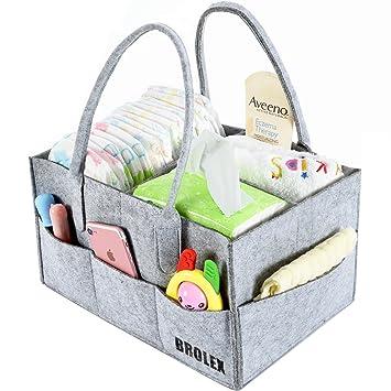 Amazon.com : Baby Diaper Caddy Organizer By Brolex: Large Capacity ...