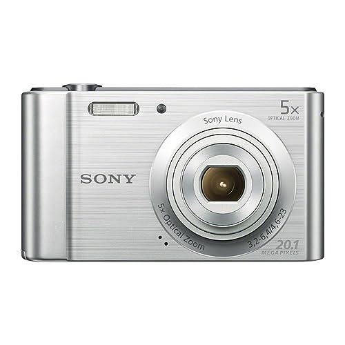 Sony DSCW800 Digital Compact Camera (20.1 MP, 5x Optical Zoom) - Silver