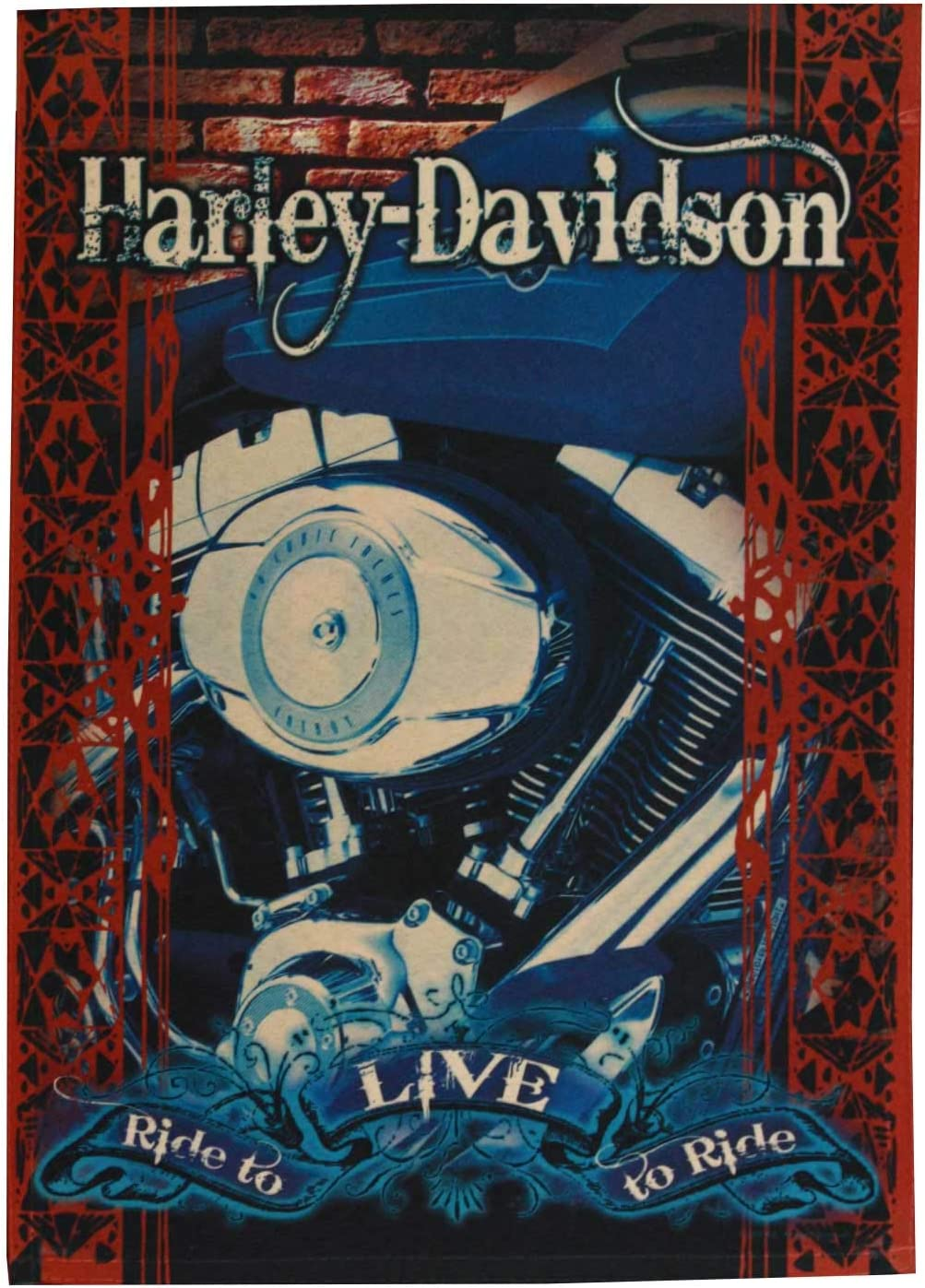"""Harley Davidson """"Ride to Live, Live to Ride"""" Garden Flag, 12.5 x 18-inches"""