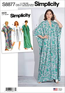 product image for Simplicity US8877OS Sewing Pattern S8877 Misses' Caftan, Various, White