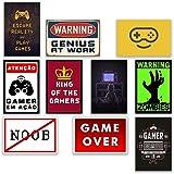 10 Placas Decorativas Quadros Gamer Nerd Geek Video Games Antigos Retro Jogos Quarto Sala Gaming
