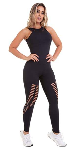 Amazon.com: Brazilian Workout Jumpsuit - NZ Rio Laser Cut ...