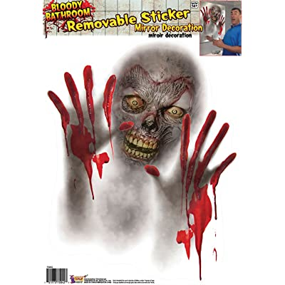 Forum Novelties Bloody Bathroom Mirror Halloween Stickers: Toys & Games