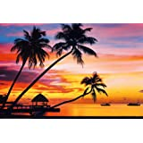 Velavary Sunset Art Print Poster 36 x 24in