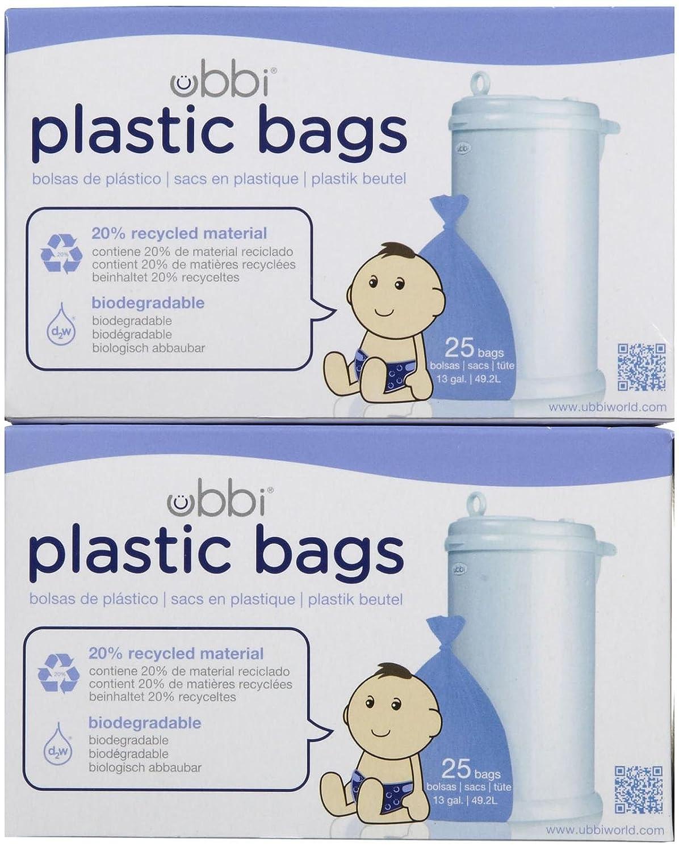 Amazon.com: Ubbi bolsas de plástico – 25 ct, Púrpura: Baby