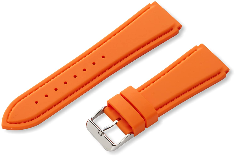 Hadley-Roma MS3346RAG240純正シリコンダイバースポーツ腕時計ストラップ メンズ  22mm オレンジ 22mm|オレンジ オレンジ 22mm B005EJGF92