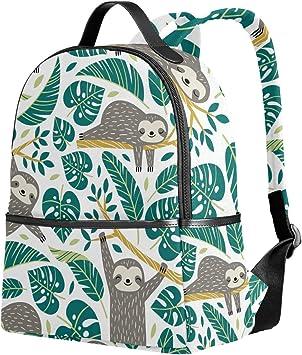 Lightweight MAPOLO Laptop Backpack Sloth Hanging On Tree Casual Shoulder Daypack for Student School Bag Handbag
