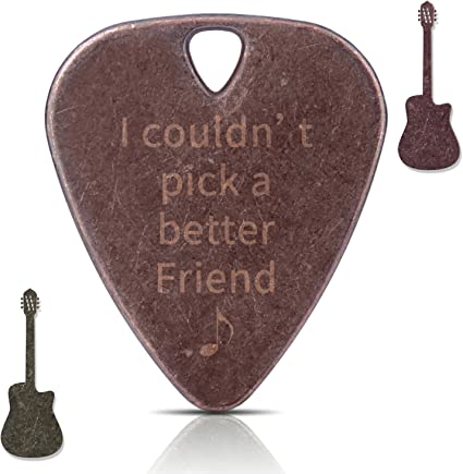 buy 1 Get 2] Newest Púas para guitarra de cobre collar hecho a ...
