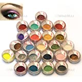USPS Shipping! 24 Warm Smoked Metals Color Glitter Shimmer Pearl Loose Eyeshadow Eyeliner Pigments Mineral Eye Shadow Dust Powder Makeup Party Cosmetic Set #D