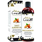 Organic Sweet Almond Oil For Skin & Hair (16oz), Unrefined, Cold-Pressed Skincare | Moisturized Skin, Nourished Hair, Fight D