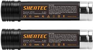 Shentec 2-Pack 4.0Ah 3.6V Replacement Battery Compatible with Black & Decker Versapak Vp100 Vp105 Vp110 Vp142 Vp143 Sears-Craftsman Pivot180 PLR36NC S100 S110 151995-03 387854-00 383900-03, Ni-MH