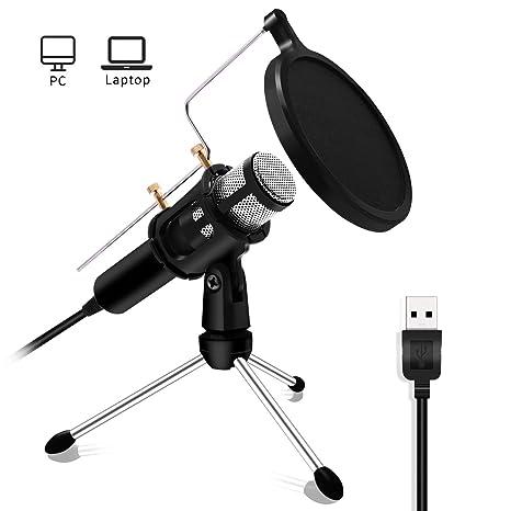 Profesional Micrófono de condensador – LEFON USB Plug Estudio ...