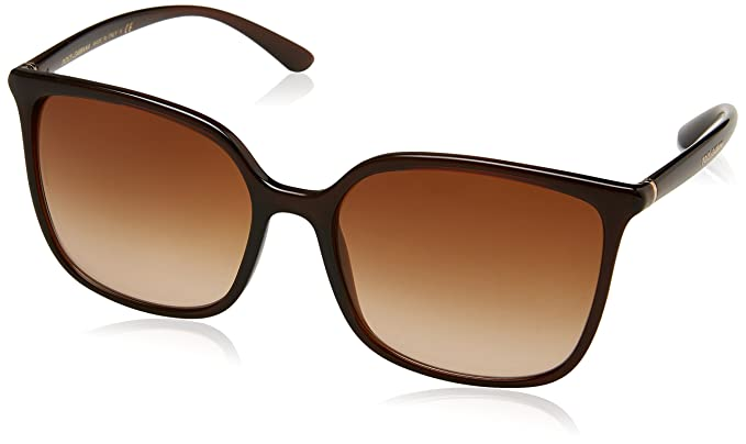 Womens 0DG2194 12968G Sunglasses, Matte Black/Pink Gold/Greygradient, 58 Dolce & Gabbana