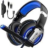 SEASKY Auriculares para Juegos,Auriculares para Juegos con Aislamiento de Ruido con Cable de,Micrófono para PS4 Xbox Control