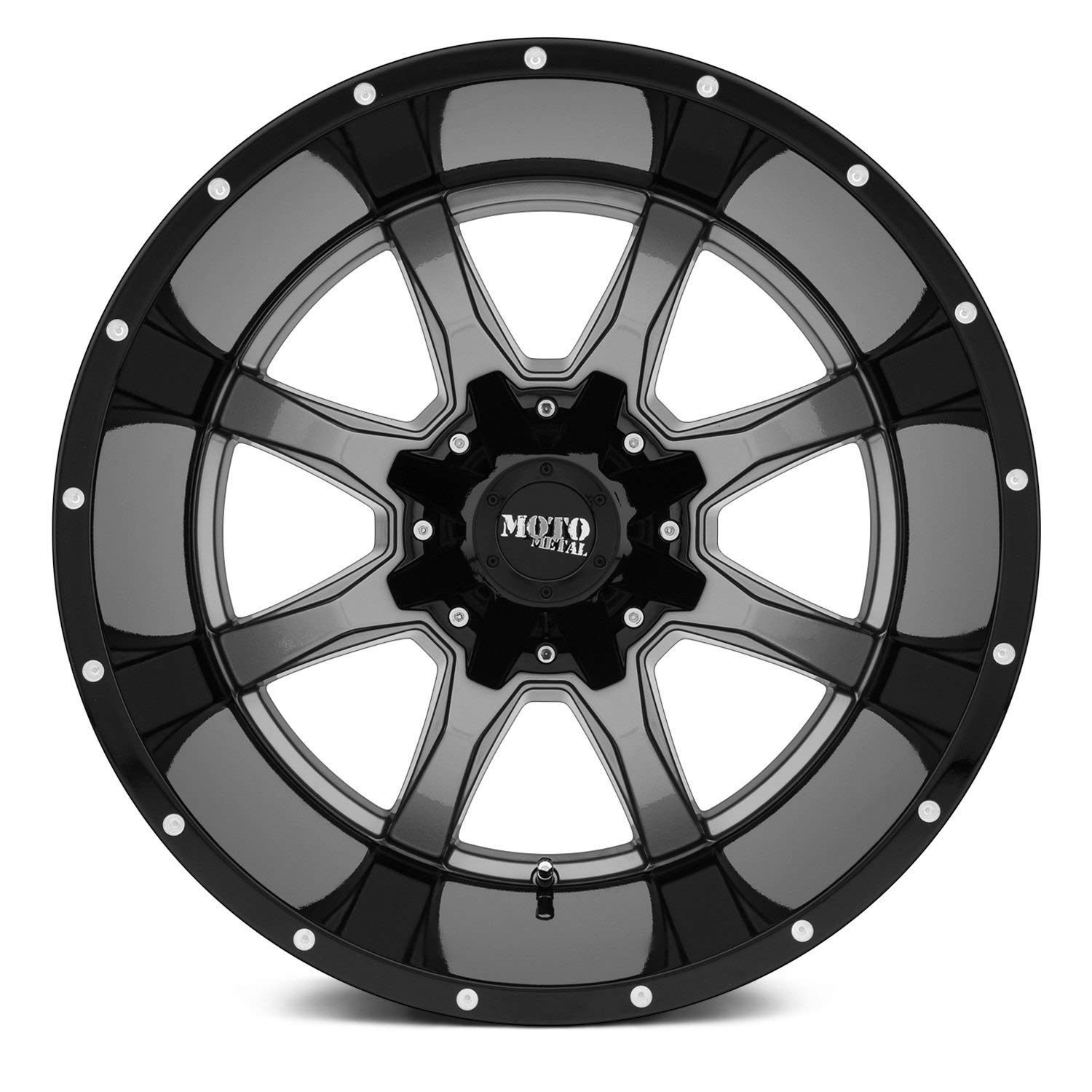 17 x 9. inches //5 x 78 mm, -12 mm Offset Moto Metal MO970 Gray Center Gloss Black Lip Wheel with Painted and Chromium hexavalent compounds