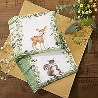 Kate Aspen Woodland Baby - Servilletas de papel (2 capas, 30 unidades), color blanco