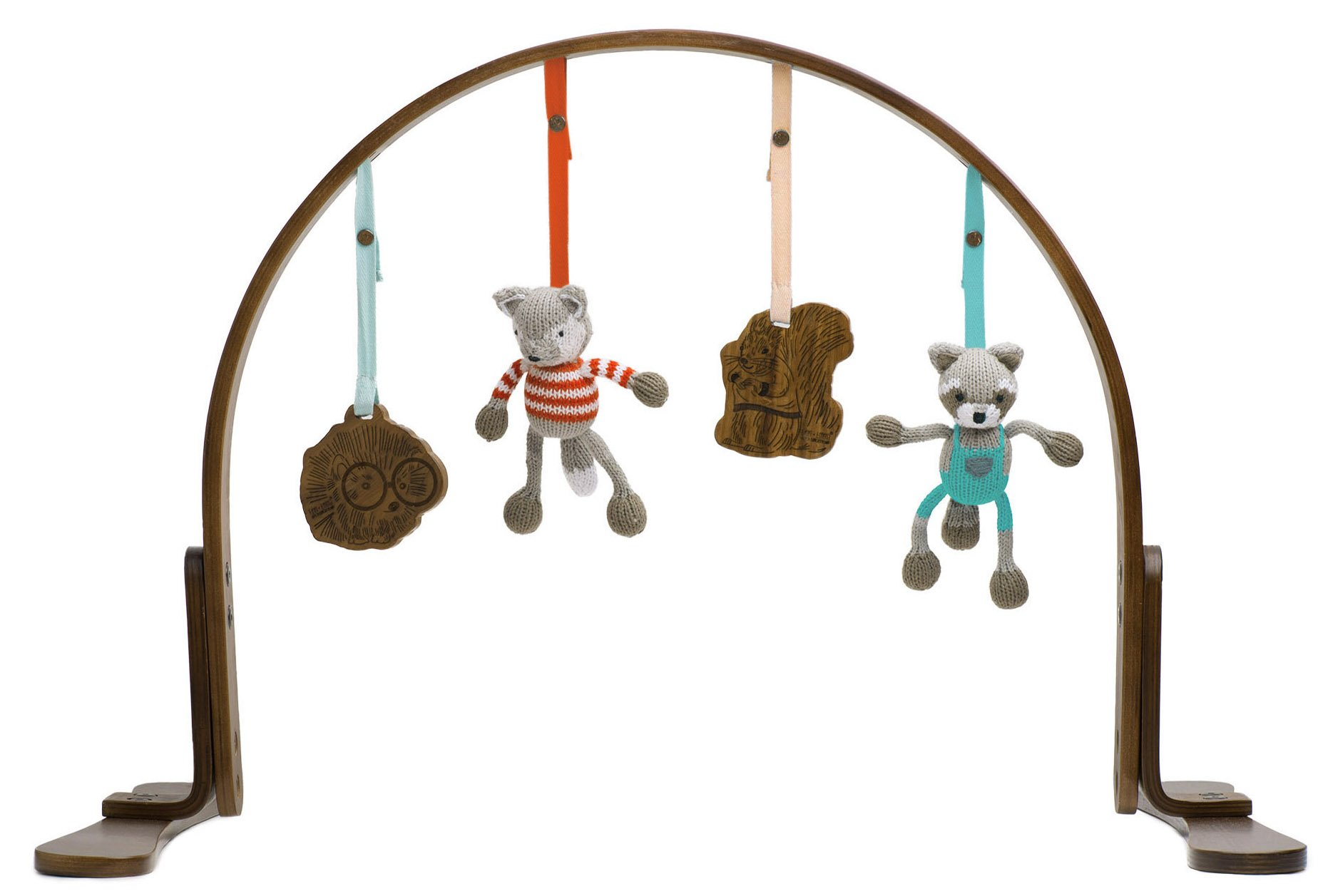 Finn + Emma Handmade Baby Wooden Play Gym, 100% Organic, Eco-Friendly, and Fair Trade, Perfect for Newborns or Toddlers